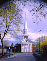 portland,maine,architecture,greater portland landmarks,church,steeple,spring
