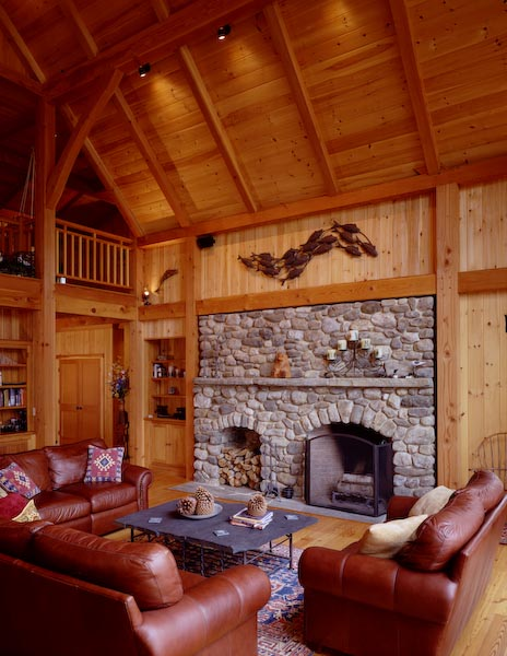 camden,maine,architecture,fireplace,wood storage,stone,post and beam,slate table